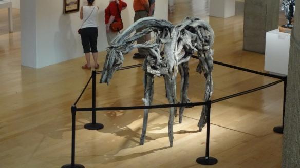 Deborah Butterfield creates  animal figures from driftwood