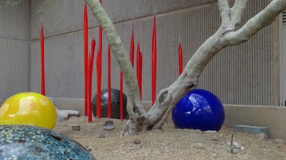 A site specific work in the sculpture garden