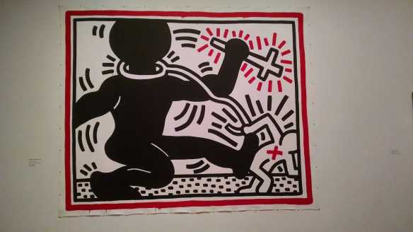 One of the best known of Haring's political images