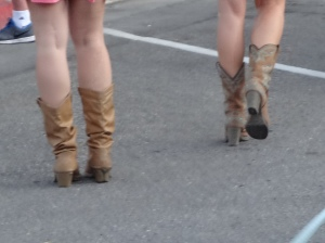 Boots are the thing to wear.  I had shoes and they were getting worn.