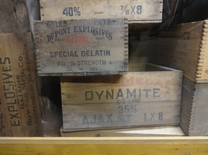 The dynamite makers on the boxes, Atlast and Dupont, are where my uncle worked, in Delaware, but he did accounting not dynamiting.