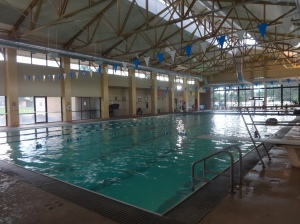The swimming lanes were open and the water warm. A couple and I debated why Union Jacks proliferated in downtown, until someone told us a British rock band was coming soon.